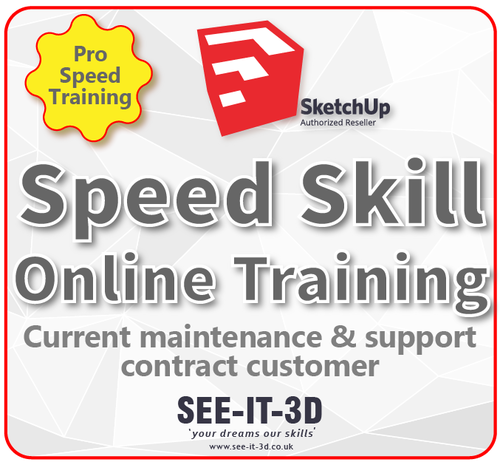 SEEIT3D-SketchUp Flexible ONLINE Speed Skill Training -M&S Current