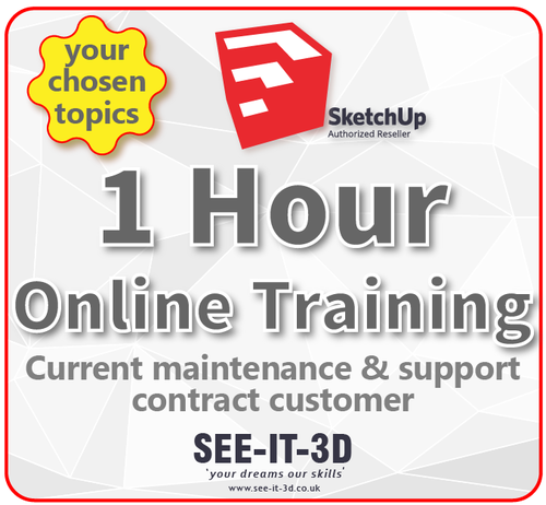 SketchUp Pro Online Tailored Training 1 HR - M&S Current