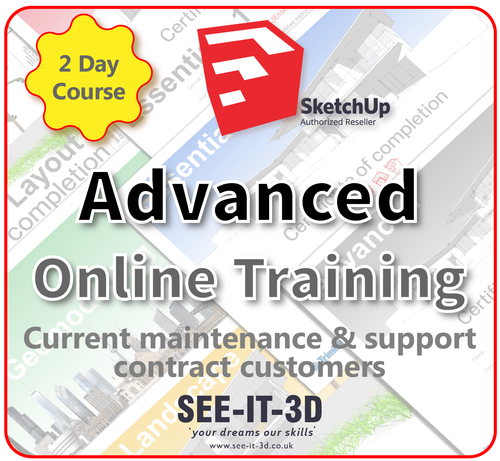 Official SketchUp Training - Master Full Advanced ONLINE-M&S Current-2 Day Course
