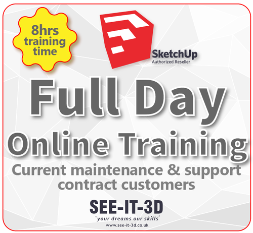 SketchUp Pro Online Tailored Training - M&S Current - Per Day