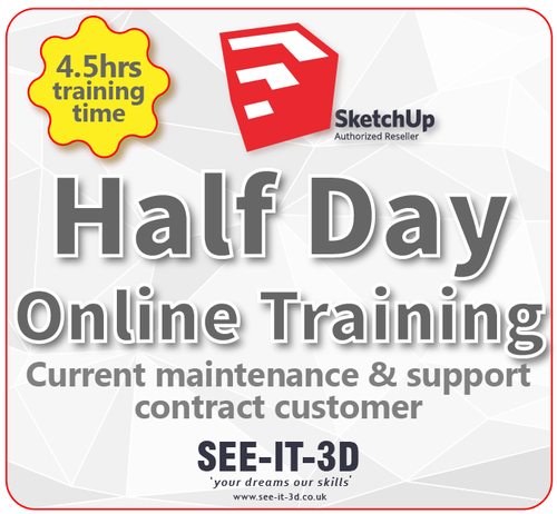 SketchUp Pro Online Tailored Training - M&S Current - Half Day