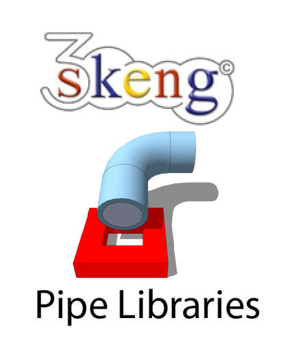 3Skeng PVDF Piping Metric Libraries for PC/Mac