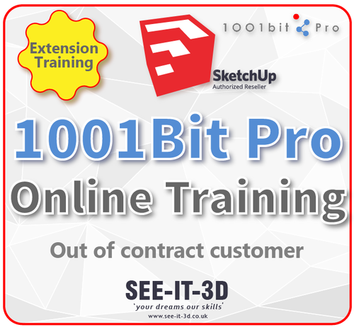 SketchUp 1001 Bit Pro Online Training - No Contract