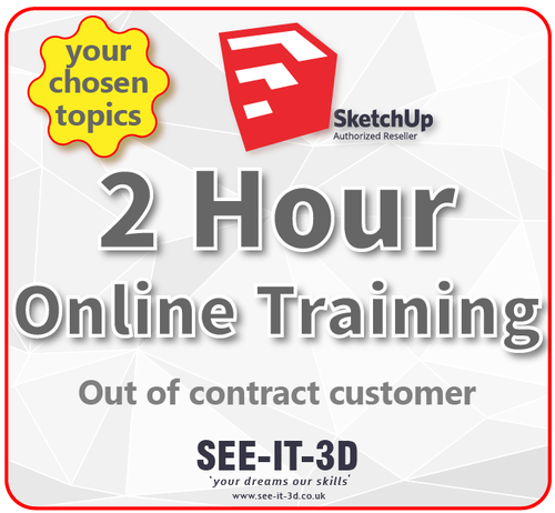 SketchUp Pro Online Tailored Training 2HR - No Contract