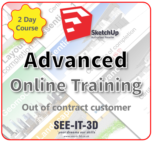 Official SketchUp Training - Master Full Advanced ONLINE-No Contract-2 Day Course