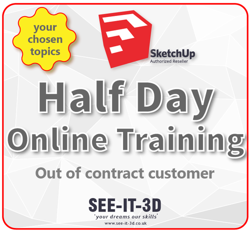 SketchUp Pro Online Tailored Training - No Contract -Half Day