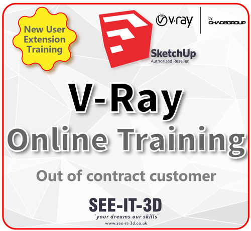 V-Ray Next for Sketchup Training ONLINE-No Contract- 2 Day Course